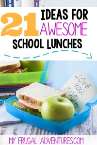 Breakfast for a school children - ready to eat - sandwich with a green apple
