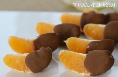 Chocolate covered orange slices
