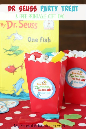 Dr Seuss Party Treat and free printable gift tag