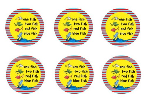 Easy dr seuss treat idea perfect for dr seuss parties for One fish two fish printable