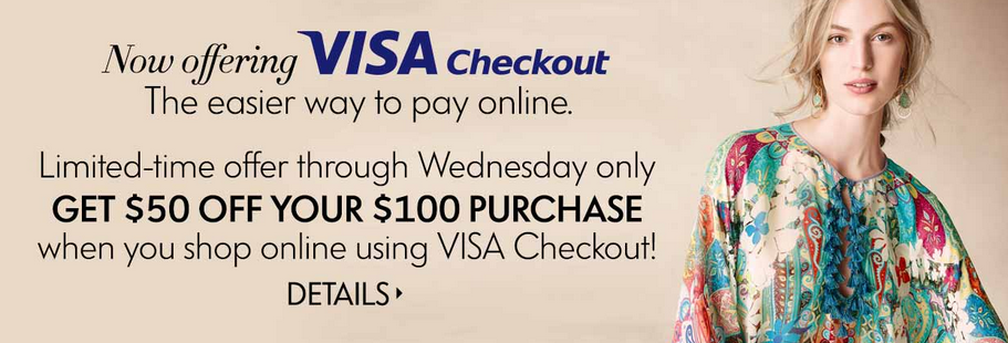 neiman marcus 50 off 100 purchase with visa checkout my frugal