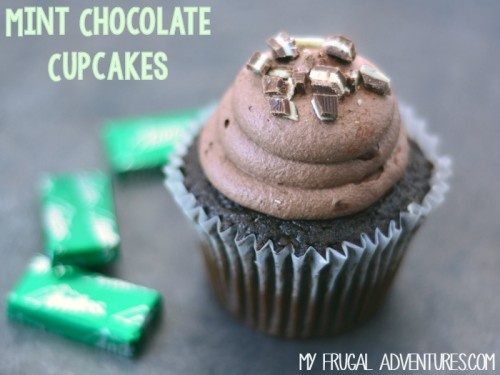Andes Mint Chocolate Cupcakes