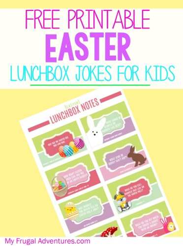 image regarding Lunch Box Jokes Printable referred to as Free of charge Printable Lunchbox Jokes for Easter - My Frugal Adventures