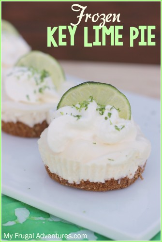 Frozen Key Lime Pie Recipe- so easy and so refreshing!