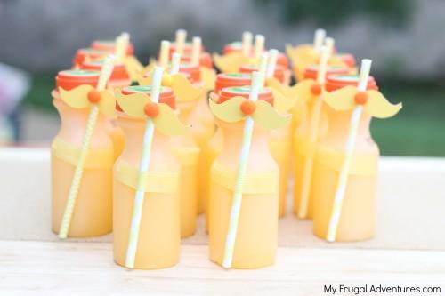 Dr Seuss Party Food: Lorax Orange Juice
