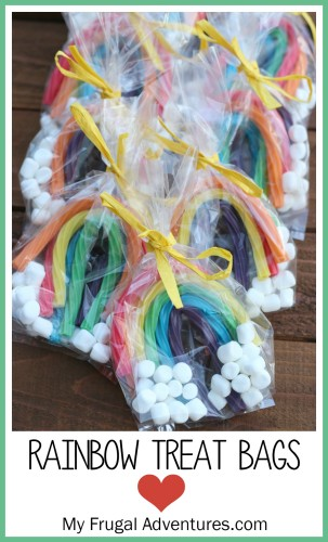 Rainbow treat bags