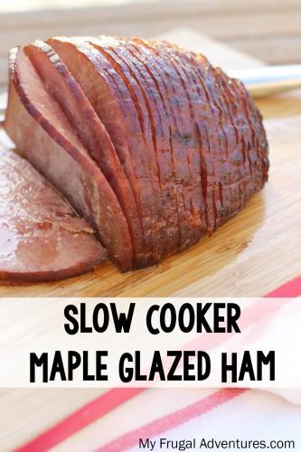 Slow Cooker Maple Ham