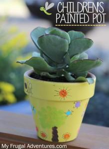 children's painted pot