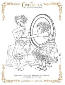 cinderella coloring pages - Frozen Fever Coloring Pages