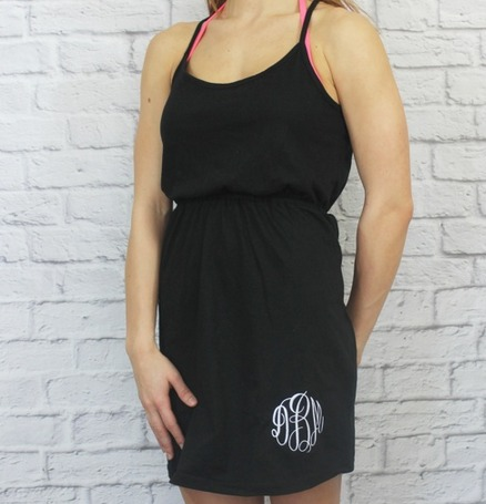 Monogrammed Cocktail Dress