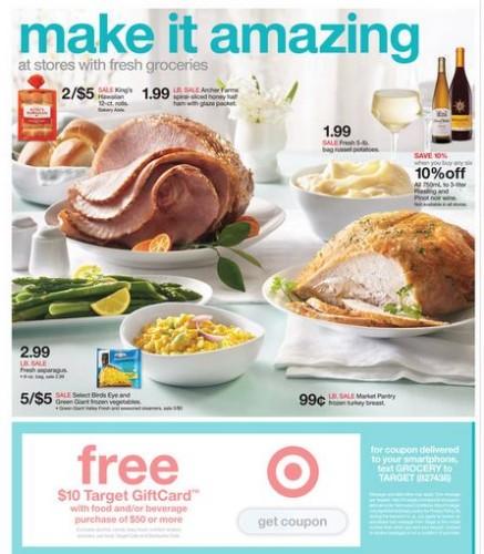 target coupon grocery