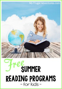 Free 2015 Summer Reading Programs for Kids