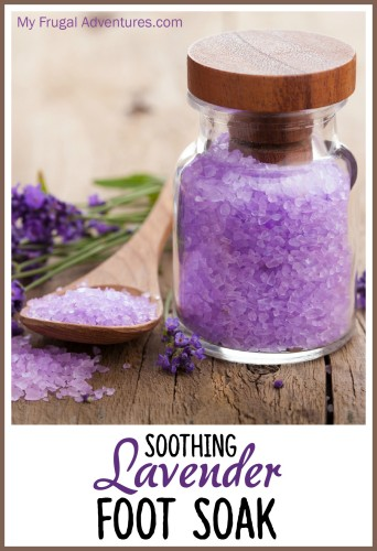 soothing lavender foot soak and bath salts
