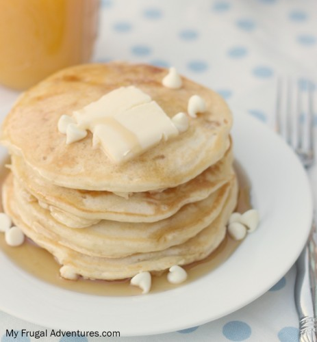 White Chocolate and Macadamia Nut Pancakes