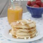 White Chocolate and Macademia Nut Pancakes