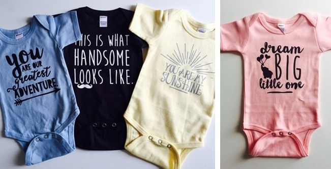 adorable slogan onesies  14 shipped