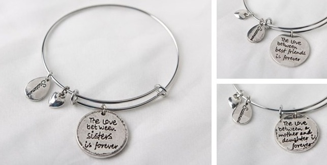 b735d6cfe9355 Silver Engraved Charm Bracelet $7 Shipped {Mother's Day Idea} - My ...