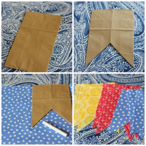 How to Make No Sew Fabric Bunting