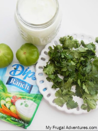 Tomatillo Ranch Salad Dressing (2 Minute Blender Recipe)