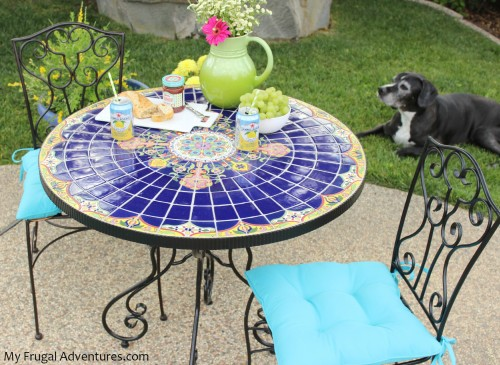 Bright U0026 Colorful Backyard Update. Mosaic Tables Are Hugely ...