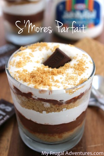 Smores Parfait Recipe- cool and creamy treat perfect for summer!