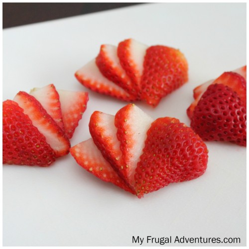 fanned strawberries