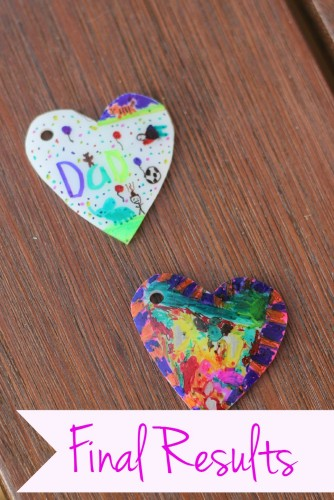 Children's artwork keychain
