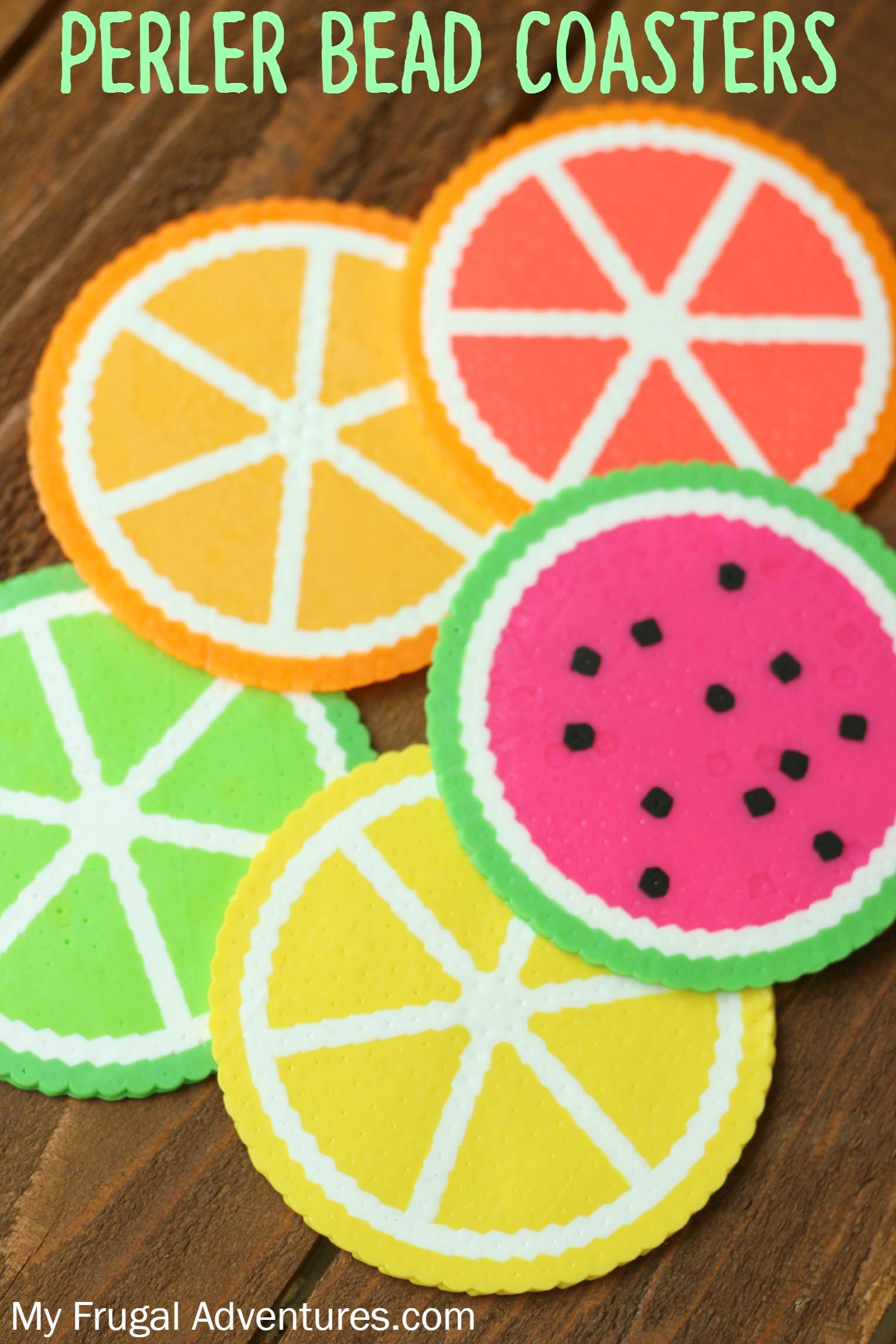 Citrus Perler Bead Coasters My Frugal