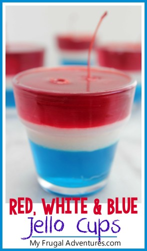 red white and blue jello cups for 4th of july