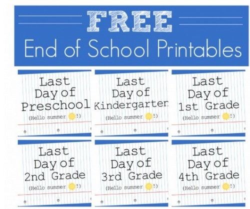 End of Year Signs for Kids