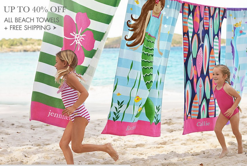 Pottery Barn Kids: Save Up To 40% off Beach Towels and Luggage +