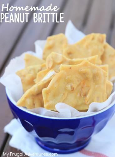 Easy homemade peanut brittle