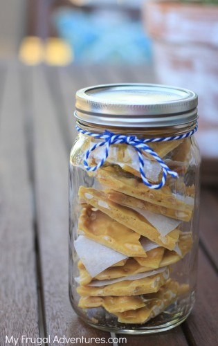 Easy homemade peanut brittle