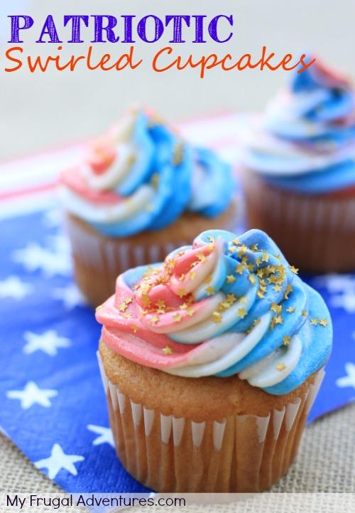 Patriotic Swirled Cupcakes