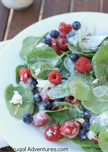 Spinach Berry Salad Recipe