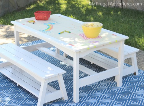 Rainbow Picnic Table for Kids