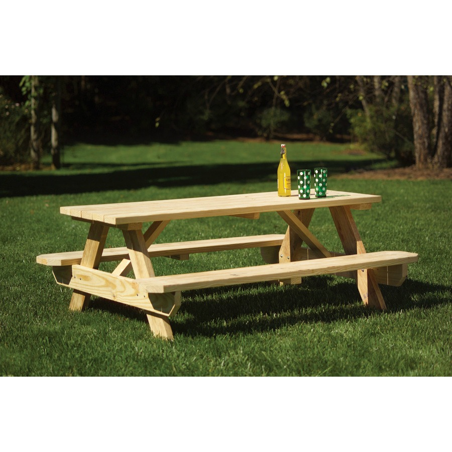 Stupendous Lowes Pine Picnic Table 88 My Frugal Adventures Download Free Architecture Designs Terstmadebymaigaardcom
