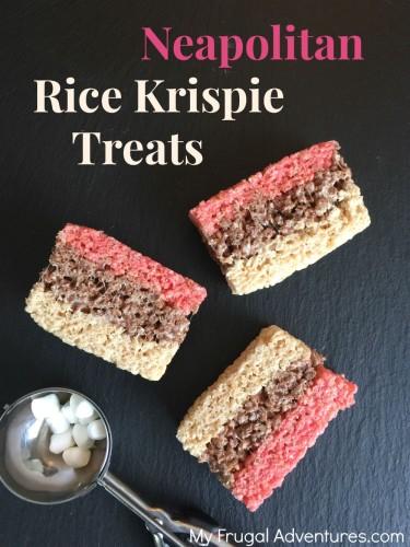 Neapolitan Rice Krispies Treats