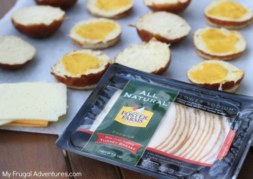 Turkey and Cheese Pretzel Sliders