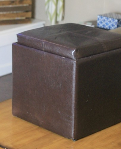 An Ottoman how to reupholster an ottoman - my frugal adventures