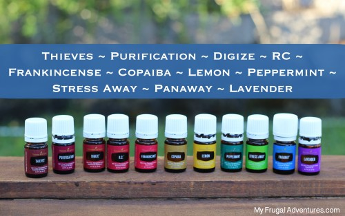 Young Living oils in kit