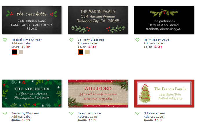 shutterfly free address labels or gift tags my frugal adventures