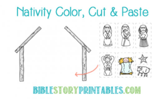 Free Printable Childrens Coloring Pages for Christmas Nativity