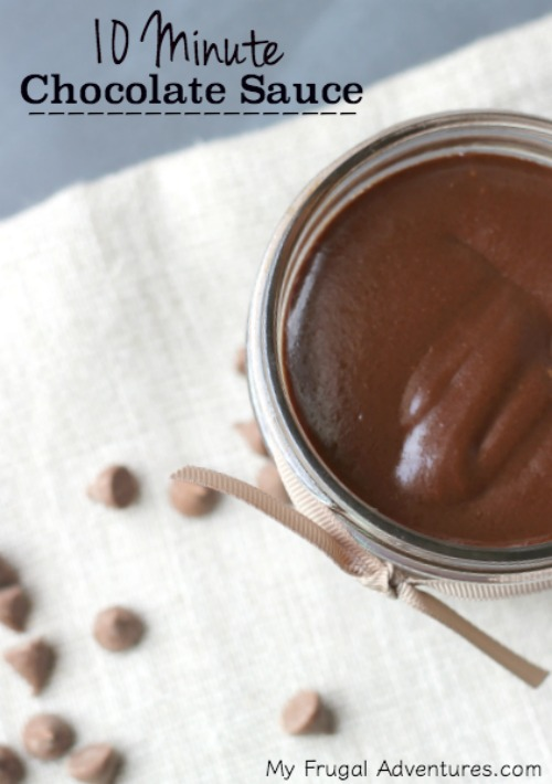 10 Minute Chocolate Sauce