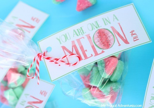 Free Printable Valentine- One in a Melon