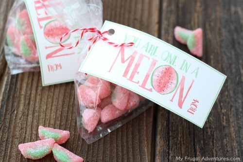 One in a Melon Valentine printable