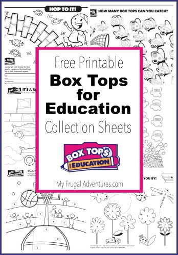 10 Printable Box Tops for Education Collection Sheets - My Frugal ...