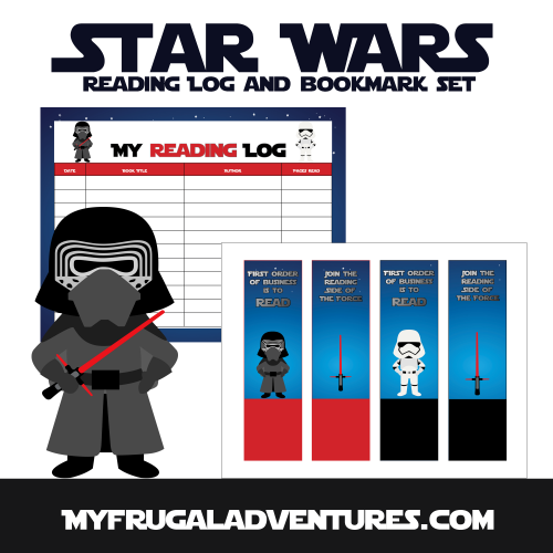 photograph about Star Wars Bookmark Printable known as No cost Printable Star Wars Looking through Log Bookmark Fixed - My