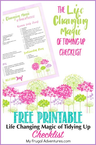 Free Printable Life Changing Magic of Tidying Up Checklist
