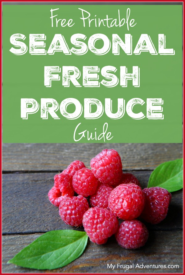 Free Printable Fresh Produce Guide